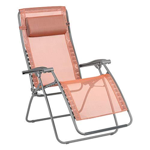 Lafuma Relax-Liegestuhl, Klappbar und verstellbar, RSXA Clip, Batyline, Farbe: Terracotta, LFM2035-8899