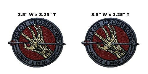 Applikation Classic TV Movie Cosplay Walking Dead Daryl Armbrust Badge bestickt Aufnäher Aufbügler oder Aufnäher, 2er Pack Geschenkset