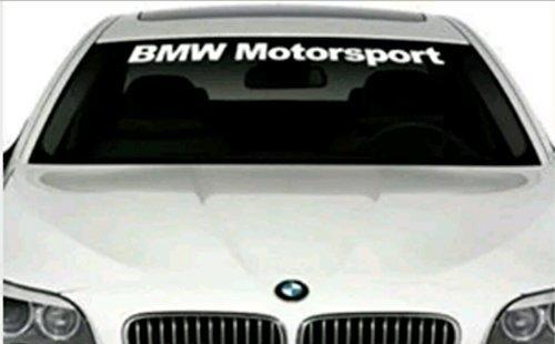 SUPERSTICKI® BMW Motorsport Windshield Aufkleber Decal Hintergrund/Maße in Inch s Cars Stickers Banners Graphic JDM Die Cut
