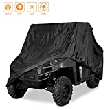 Indeedbuy Waterproof UTV Cover, Heavy Duty Black Protects 4 Wheeler from Snow Rain or Sun,Integrated Trailer System,115' x 60' x 75'