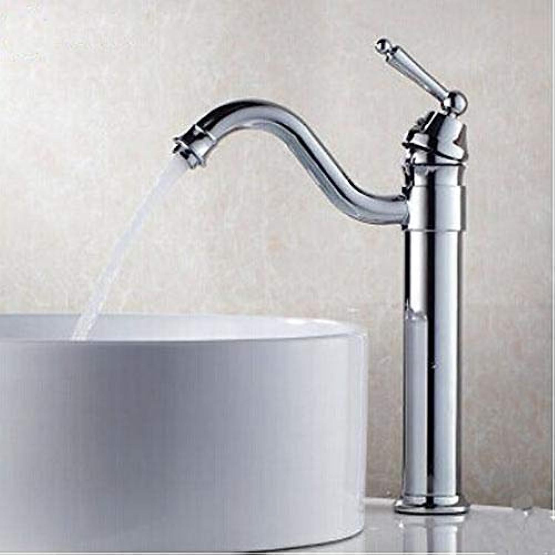 RNJDC Waschtischarmatur Bad Waschbecken Wasserhahn - Drehbar Chrom Centerset EIN Loch Einhand EIN Loch Badewannenarmaturen