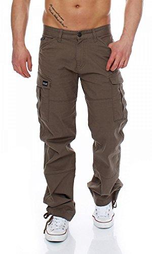 Big Seven Brian Cargo Hose Comfort Fit Herren Jeans, Farbe:Khaki, Hosengröße:W42/L32