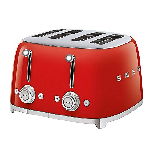 Smeg TSF03RDEU Toaster, 2000, Metall, Rot