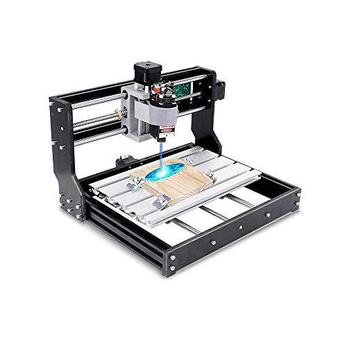 TOPQSC CNC 3018 Pro laser engraving machine,CNC-Maschine-Kit Upgrade-Version CNC 3018 Pro GRBL Steuerung Router Kit Holz Router Graveur 3-Achsen-CNC-Kunststoff, Holz, Acryl, PVC, PCB (3018 Pro+15w)