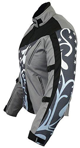 B-07 Bangla Damen Motorrad Jacke Textil Cordura600 Grau gemustert S - 2