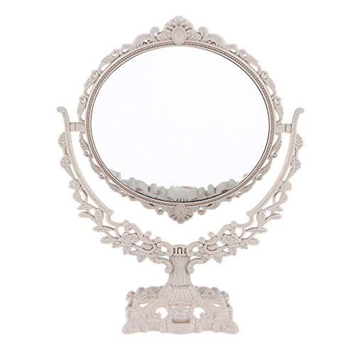 perfeclan Miroir Grossissant et Double Maquillage sur Pied, Coiffeuse, Vue Normale - Forme ronde