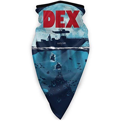 WH-CLA Sombreros,Dex Dexter Jaws Mashup,Pasamontañas Protección UV Polainas De Cuello Elástico Pañuelo De Cabeza para Ciclismo Senderismo Cámping