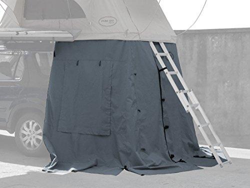 Prime Tech Vorzelt zum Autodachzelt Wasteland XXL grau, 180x120x200cm