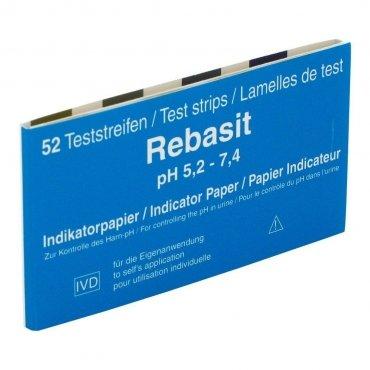 CELLAVITA Rebasit pH-Teststreifen Packungsinhalt: 52 Streifen pH-Wertmessbereich: 5,2-7,4