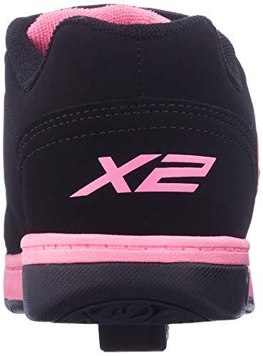 Heelys Dual Up Shoes - Black/pink JNR 13 Black / Pink
