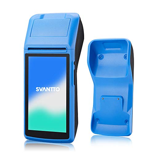 POS Terminal,SVANTTO Handheld Android 6.0 POS printer with 2G 3G WIFI Bluetooth NFC Built-in Thermal Printer and 1D 2D QR Barcode Reader with Base Dock