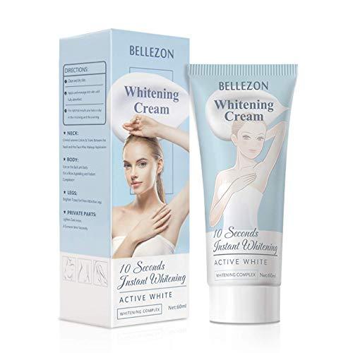 Whitening Cream, Skin Lightening Cream, Effective Lightening Cream for Knees, Elbows, Armpit, Sensitive Areas, Brightens & Nourishes Repairs Skins 60ml