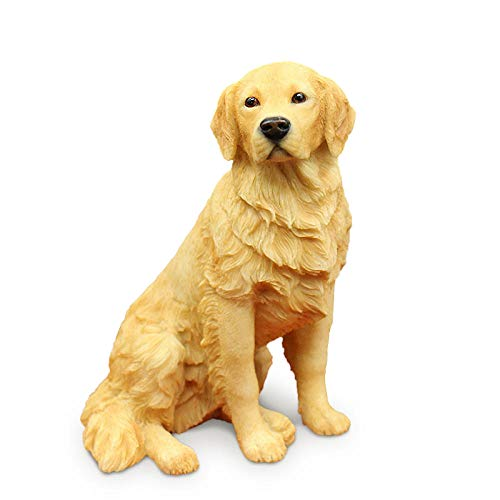 Statues Outdoor Statues Golden Retriever Sitting Posture Dog Simulation Animal Model Car Decoration Home Decoration Crafts