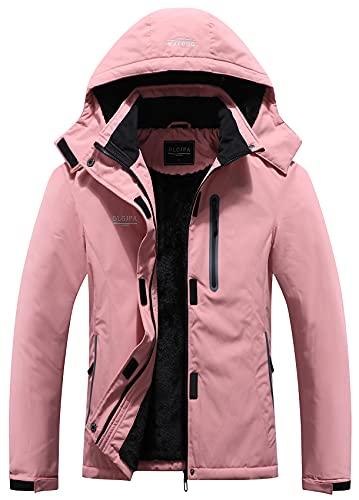 DLGJPA 여성 산방수 스키 재킷 후드 윈드브레이커 윈드프루프 레인코트 겨울 온난 스노우 코트