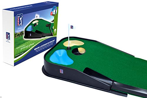 PGA Tour Indoor und Outdoor Putting Matte, Blue, Green, 39.4LX11.4WX52.7H cm