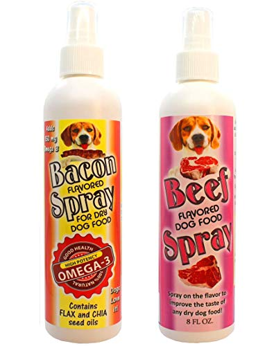 Flavored Sprays Bacon and Beef Dog Food Enhancer