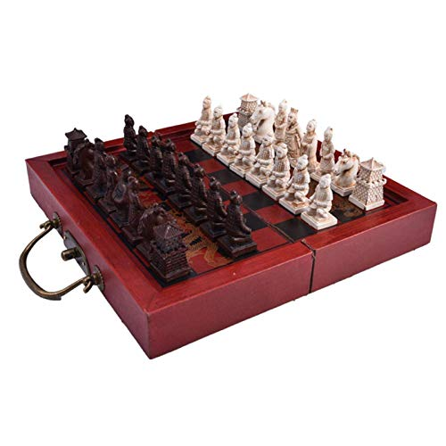 LEILEI Small Retro Chess,Small Retro Chess,Ming and Qing Dynasty Chinese Retro Terracotta Warriors Chess,Small Retro Chess