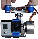 FPV 2 Axis Brushless Motor Gimbal with Controller for DJI Phantom, Gopro, Racing