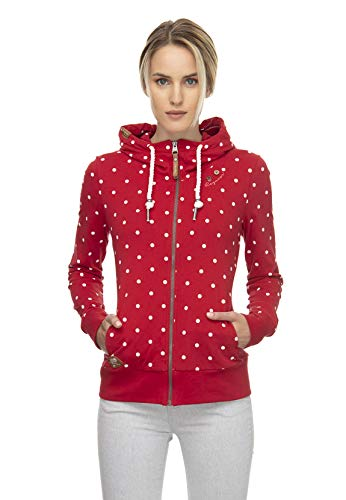 Ragwear Zipper Damen PAYA DOTS 2011-30042 Rot Red 4000, Größe:S