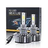 Bombilla LED H7 Coche 8000LM, Lámpara Halógena y Lámpara de Xenón, luz de Carretera o kit de Coche, kit de Conversión de faro de luz de Cruce, 40W 9V-32V 6500K Blanco, 2 Piezas