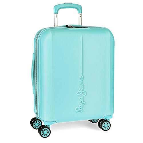 Pepe Jeans Glasgow Maleta de Cabina Azul 40x55x20 cms Rígida ABS Cierre TSA 37L 3,2Kgs 4 Ruedas Dobles Extensible Equipaje de Mano
