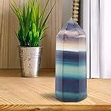 AUNMAS Rainbow Natural Fluorita Cristal de Cuarzo Varita Hexagonal Promoción de la Salud Piedras Preciosas Oficina en el Hogar Decoración de Escritorio (2#)
