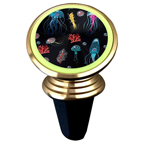 Acuario de medusas Peces Algas marinas Soporte para teléfono celular para automóvil Soporte magnético para teléfono celular para automóvil Imán fuerte Soporte para ventilación de aire Rotación de 360