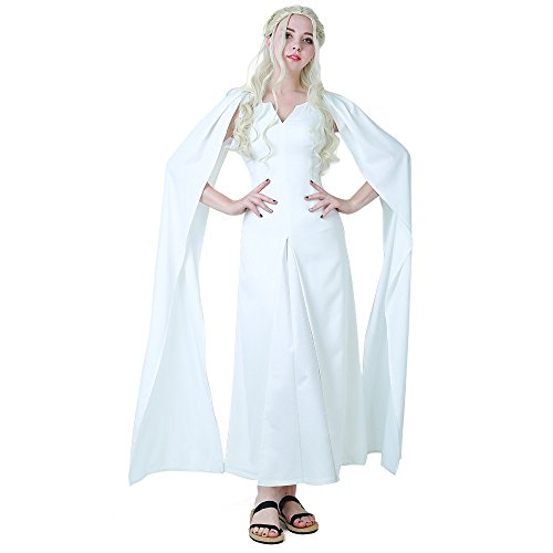 Daenerys Targaryen White Dress Cosplay Costume
