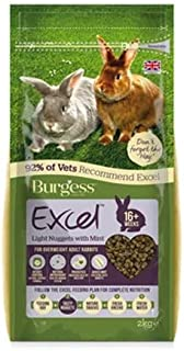 Burgess Excel Light Nuggets with Mint for Overweight Adult Rabbits - 2kg