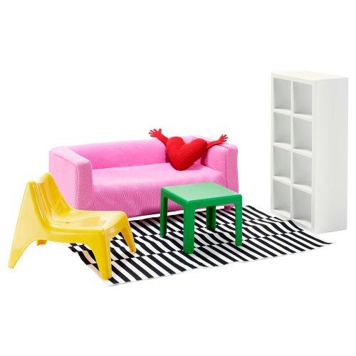 IKEA HUSET Puppenmöbel Wohnzimmer