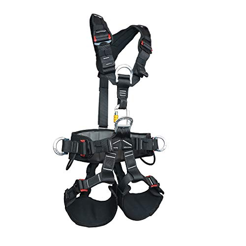 SOB Full Body Climbing Harness Can Be Inverted Thicken Widen Protect Waist Safety Harness Tree Work Rock Climbing Mountaineering Rescuing Work at Height