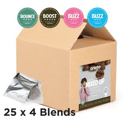 Aromo Premium ESE Coffee Pods - Mixed Selection Pack x 100 ESE Pods - Free Delivery