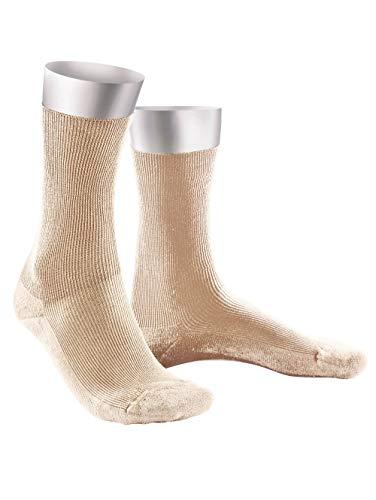 Weissbach Komfort-Socken ohne einschneidenden Gummibund Beige