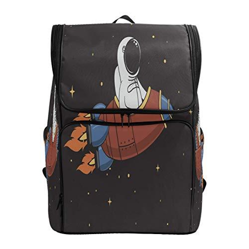 Süße Astronauten Rakete im Weltraum Stern Rucksack Bookbags College Laptop Daypack Travel Schule Wandern Tasche für Damen Herren