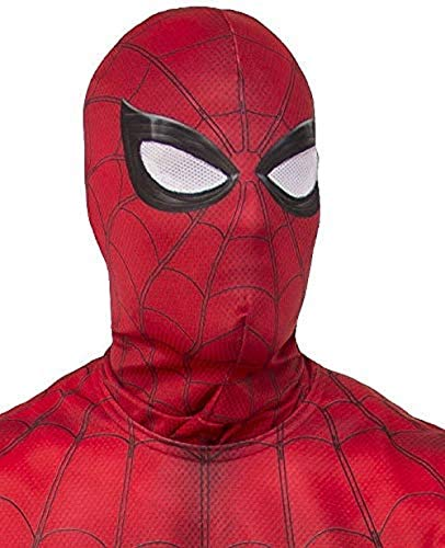 Rubie's mens Marvel: Spider-man Far from Home Fabric Costume Mask, Red/Blue, One Size US