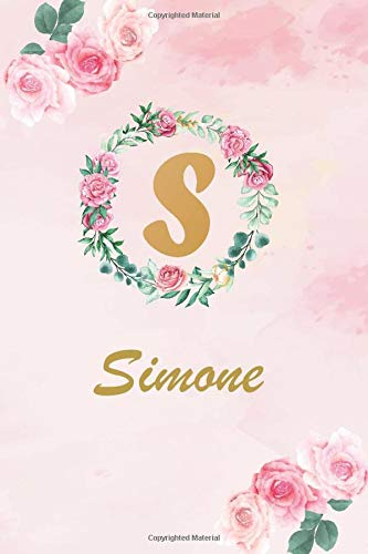 Simone: personalized writing journal notebook for girls and women all ages |...