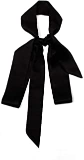 1PCS Black Long 200cm/2.18 Yards Multifunction Women Lady Girl Skinny Thin Chiffon Long Tie Scarf -Silk Scarves Bag Band Belt Neckerchief for Spring Summer