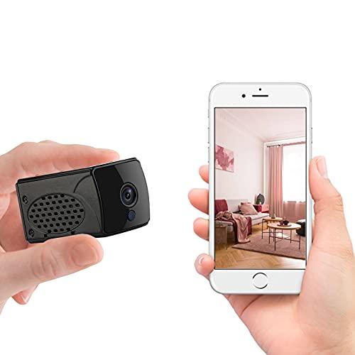 RUIZHI Mini-Kamera, 4K UHD Wireless-Kamera WiFi-Kamera mit Handy-App, kleine Überwachungskamera mit Nachtsicht-Bewegungserkennung für Zuhause/Auto/Innen/Außen