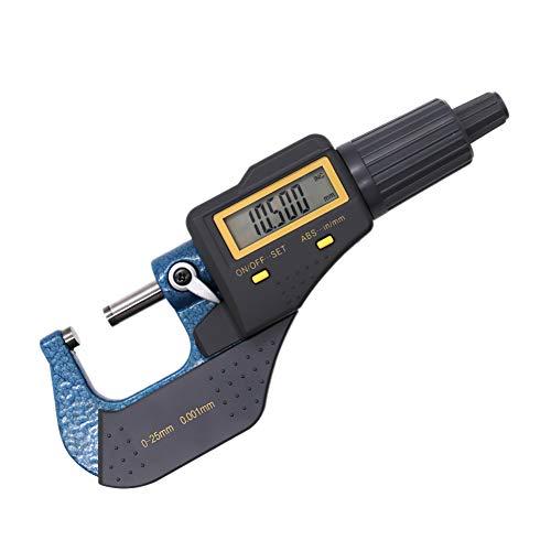 Micrómetro electrónico digital de pantalla de 0,001 mm de pulgada de calibrador métrico medidor de espesor herramientas de medición