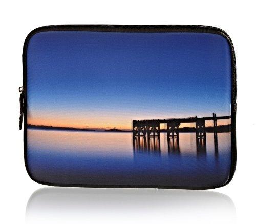 Tablet Tasche Schutz Hülle Hülle Sleeve Etui mit Motiv Brücke passend für Blaupunkt Endeavour 1010 HD
