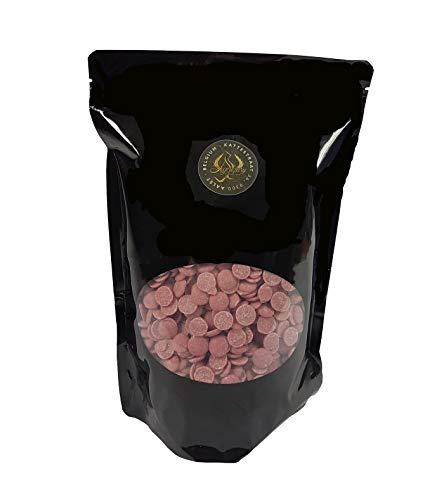 Legendary - it's all about beans CALLETS RUBY - Original belgische Schoko Drops, für Schokoladen-Fondue und Schoko-Brunnen (Ruby, 1 kg)