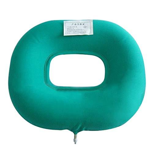 LUCKY Orthopädisches Sitzkissen,Hämorrhoiden Sitzkisse,Dekubitus-Kissen rund Aufblasbares Kissen Weich Sitzring mit Pumpe for Bettwunden, Schwangerschaft Steißbein Schmerzen