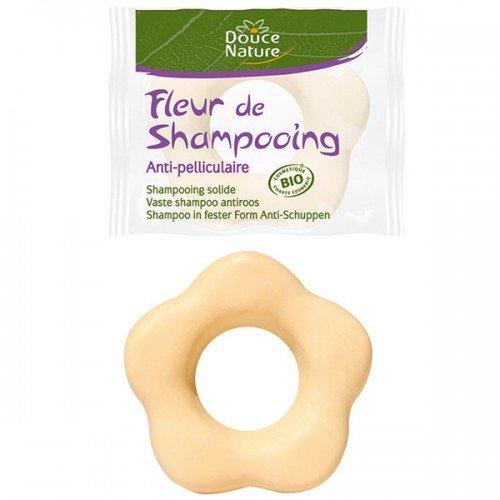 Douce Nature fleur de shampooing anti-pelliculaire bio - 1 fleur 85 g = 400 ml de shampooing