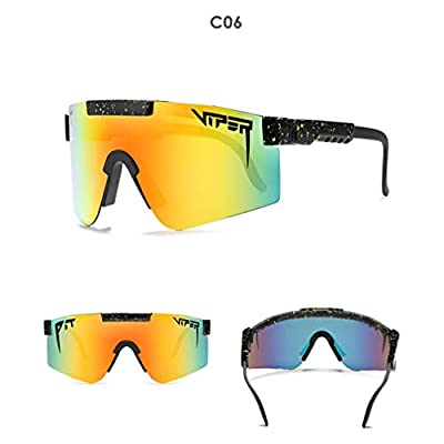 Katherinebeus Sports Sunglasses,DHL Express, Protection Cycling Glasses,UV400 for Cycling, Baseball,Fishing, Ski Running,Golf, Polarized Cycling Sunglasses Full Screen TR90 for Men Women (C6)