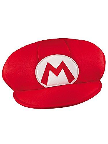 SUPER MARIO 13376 Chapeau Mario Rouge Taille Unique