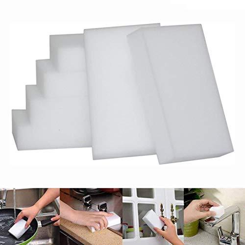 CWYP-MS - Esponja de limpieza mágica (100 unidades, esponja de goma de borrar mágica, espuma de melamina, esponja de borrador para todas las superficies, baño, cocina, piso, zócalo, (sin químicos)