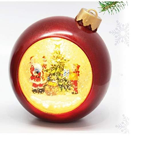 Mood Milano - Carillon a Forma di Pallina di Natale con Movimento Automatico, Luce e Musica, Diverse raffigurazioni Disponibili (Albero)