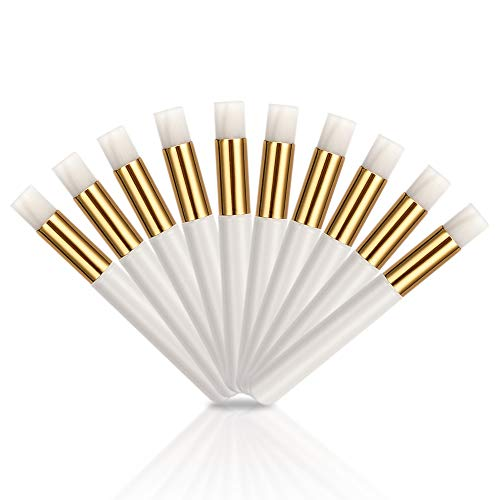 ATOMUS 10pcs Eyelash Shampoo Brushes Eyelash Cleaner Brush for Extensions Nose Pore Deep Cleaning Brush Facial Cleansing Brushes