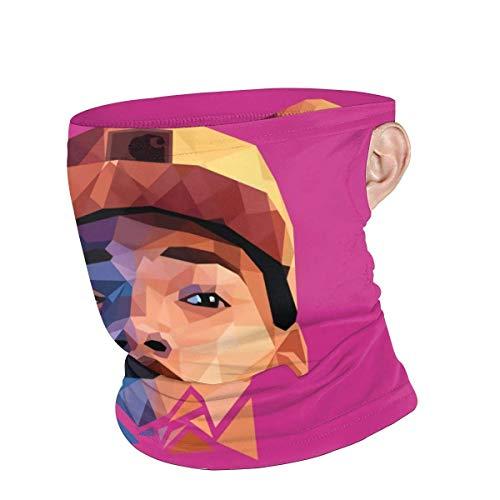 YUIT 3D Print Bandanas Schutzreitkopfbedeckung Winddichte Sturmhauben Gesicht Bandana Schal Sonne UV Staubschutz Chance The Rapper
