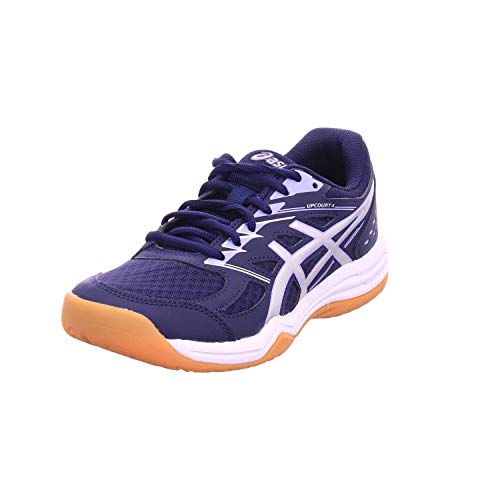 ASICS Damen Upcourt 4 Volleyball-Schuh, Peacoat Pure Silver, Numeric_40 EU
